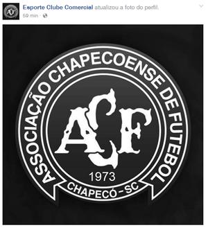 Nas redes sociais, Comercial-MS lamenta tragédia da Chapecoense (Foto: Reprodução/Facebook)
