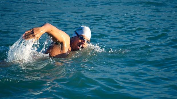 Marcelo Collet natação travessia do Canal da Mancha (Foto: Joana Rizério / Divulgação)