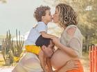 Bárbara Borges posta foto fofa em família: 'Em breve seremos quatro'
