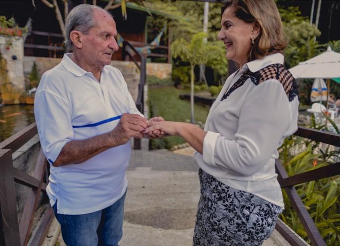 Ensaio fotográfico do senhor Silvério e da dona Glorinha (Foto: Lucas Alves)