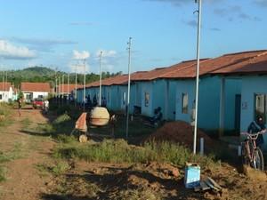 Obra do Minha Casa, Minha Vida foi invadida em Jaru, RO (Foto: Maico Gean/Jaru Online)