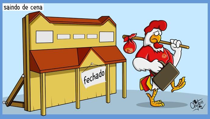 Charge: com problemas financeiros, Atlético Sorocaba anuncia pausa no futebol (Foto: Charge: Clayton Esteves )