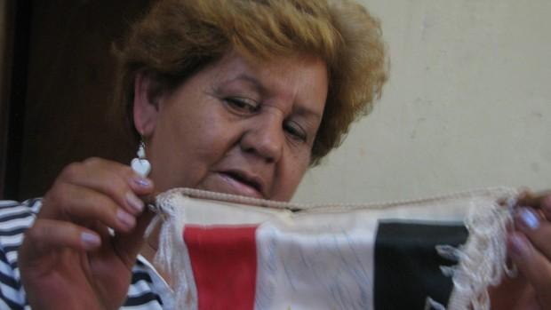 Marilene Scobar - mãe do goleiro Alexandre do São Paulo de 1992 (Foto: Rafaela Gonçalves / GLOBOESPORTE.COM)