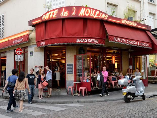O exterior da cafeteria, que vive cheia de turistas (Foto: Eric Feferberg/AFP)