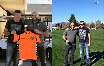 Gilmar Rinaldi visita CT que pode abrigar seleção brasileira na Califórnia