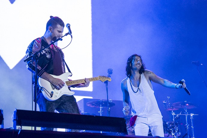 Banda Magic! se apresenta no Palco Sunset   (Foto: Ellen Soares / Gshow)