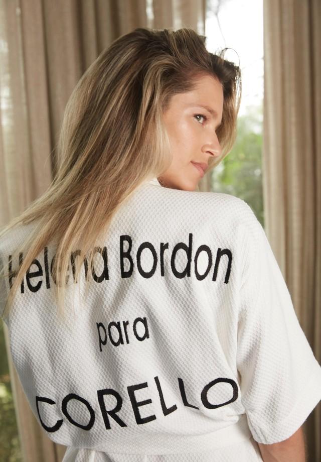 Helena Bordon no making of da Corello (Foto: Divulgação)
