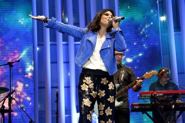 Aline Barros se apresenta no Festival Promessas de 2013 (Foto: Globo/Jane Franco)