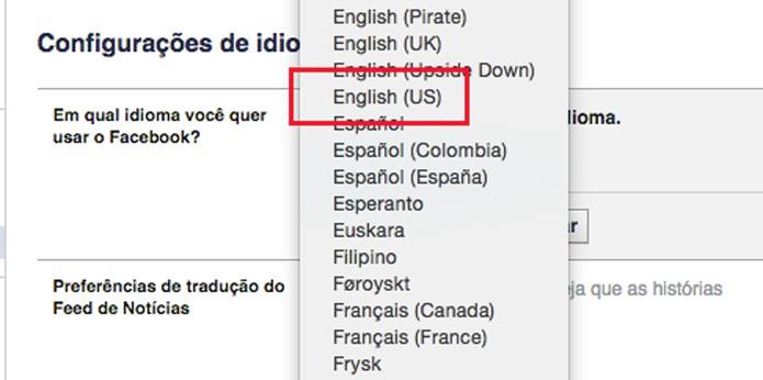 Mudança de idioma (Foto: Reprodução/André Sugai)