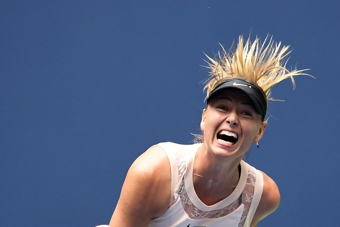 Maria Sharapova no US Open (Foto: Jewel SAMAD / AFP)