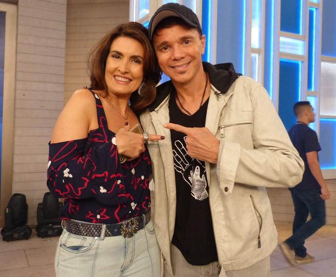Fátima Bernardes e Netinho (Foto: Marcele Bessa/Gshow)
