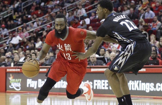 James Harden Rockets x Wolves NBA - AP (Foto: AP)