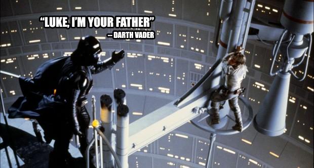 """""""Luke, eu sou seu pai"""" - Star Wars Episódio V: O Império Contra Ataca (Foto: Divulgação)"""