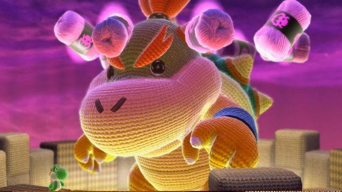 O adorável Bowser Jr. de Yoshis Woolly World (Foto: Reprodução/YouTube)