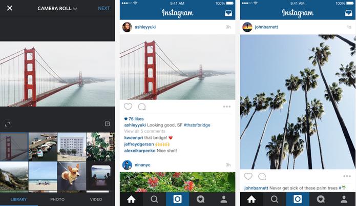 Usuários do Instagram agora podem publicar imagens e vídeos em diferentes formatos (Foto: Divulgação/Instagram)