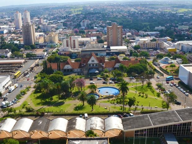 Praça Rocha Pombo, no Centro de Londrina (Foto: Mario Jorge Tavares/Arquivo Pessoal)
