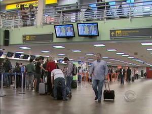 Aeroporto Hercílio Luz (Foto: RBS TV/Divulgação)