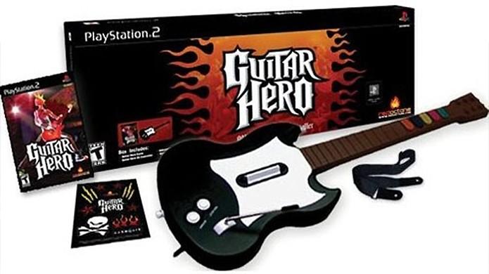 A guitarra de Guitar Hero pode ter sido responsável pela maior parte do sucesso do jogo (Foto: Reprodução/Gizmos)