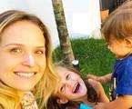 Fernanda Rodrigues com os filhos, Luisa e Bento | Reprodução