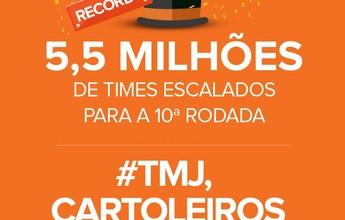 Virou rotina! Cartola bate novo recorde de times na rodada #10: 5,5 milhões