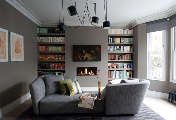 Decoracao De Sala De Tv Com Sofa Cinza ~ Sala cinza 18 ideias para a decoração  Casa Vogue  Ambientes