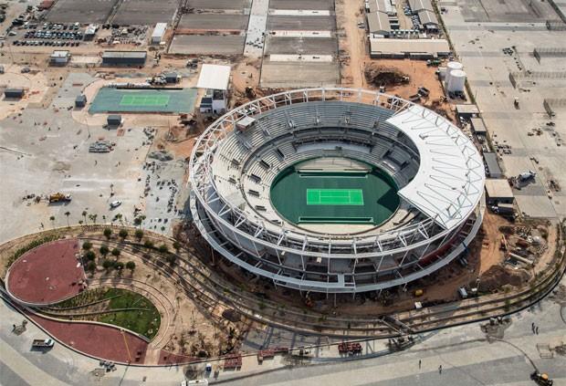 Centro de tênis está com as obras 80% concluídas (Foto: Renato Sette Câmara / Prefeitura do Rio)