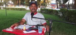 Locutor estuda idiomas para narrar julgamentos na Festa do Boi (Klênyo Galvão/G1)