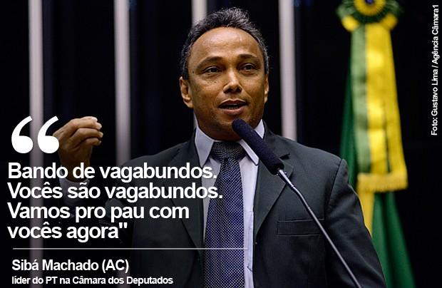 Card do líder do PT na Câmara, Sibá Machado (Foto: Gustavo Lima / Câmara dos Deputados)