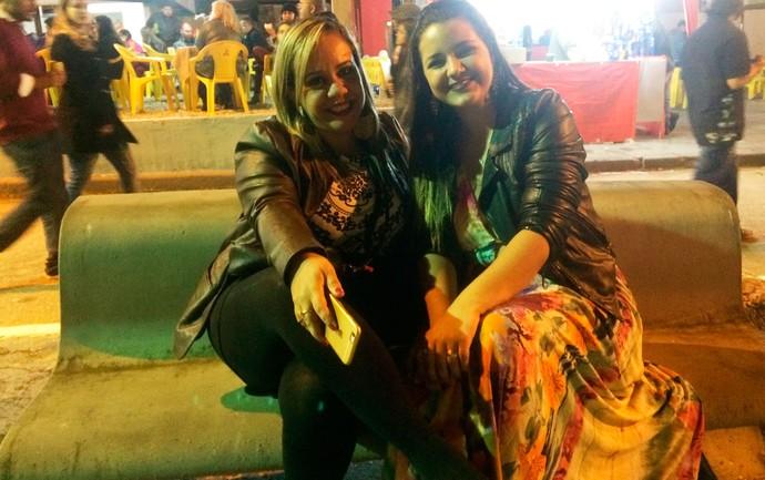 Regina Barreto e Caroline Castro  (Foto: Henrique Mendes)