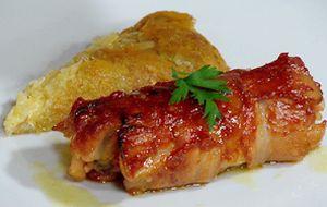 Porco louco': trança de bacon com recheio de carne