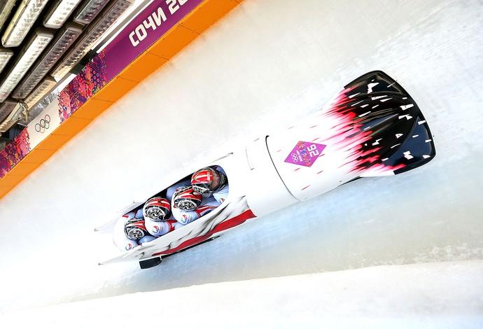equipe bobsled da Polônia em Sochi (Foto: Getty Images)