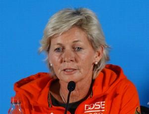 Silvia Neid, técnica da seleção alemã de futebol feminino (Foto: Fernando Martins Y Miguel)