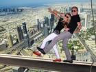 Roberto Justus e Ana Paula Siebert se divertem com fotos em Dubai