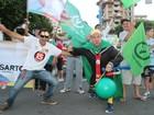 Eleitores de Sartori fazem festa nas ruas (Estêvão Pires/G1)