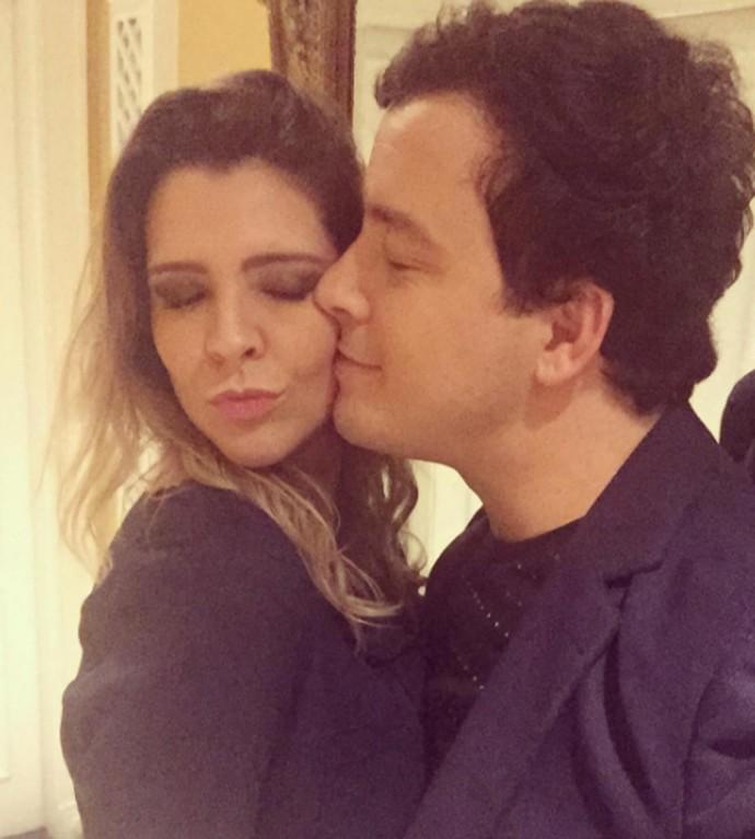 Rafael Cortez e Adriana em clima de romance (Foto: Arquivo pessoal)