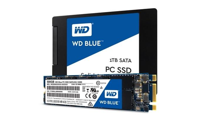 SSDs SATA WD Green e WD Blue são lançamentos da companhia (Foto: Divulgação/Western Digital)