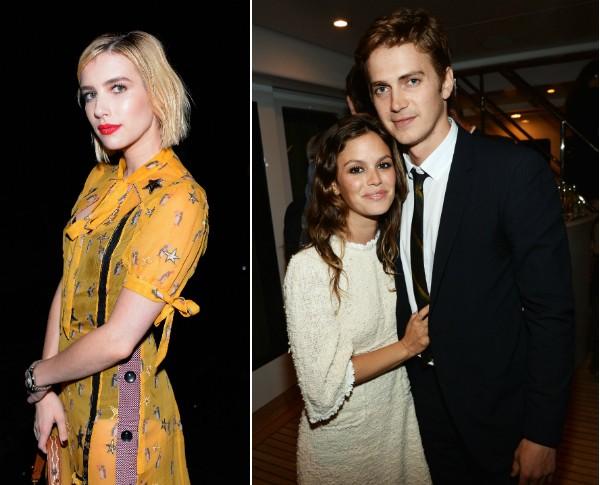 A atriz Emma Roberts e o ex-casal composto por Rachel Bilson e Hayden Christensen (Foto: Getty Images)