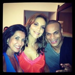Scheila Carvalho, Ivete Sangalo e Tony Sales em festa em Salvador, na Bahia (Foto: Instagram/ Reprodução)