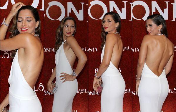 """Camila Pitanga usou vestido branco decotado na festa de lançamento da novela """"Babilônia"""", no Copacabana Palace (Foto: Isac Luz/Ego e Ag.News)"""