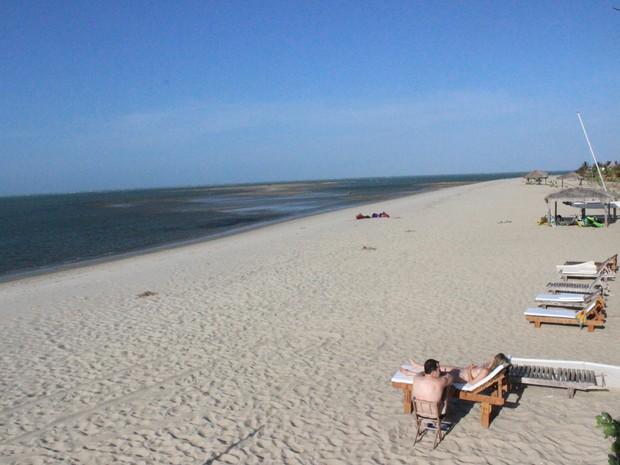 Praia de Barra Grande no Litoral piauiense vai sediar uma das maiores festas de réveillon (Foto: Patrícia Andrade/G1)
