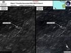 Barco chega a área onde objetos que podem ser de avião foram detectados