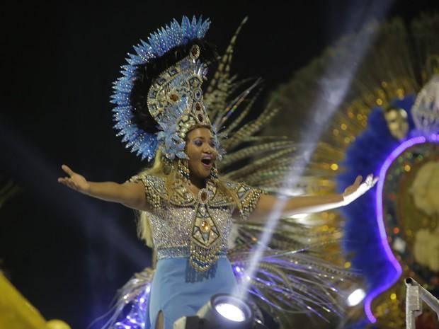 Gaby Amarantos foi destaque do Rancho, escola de samba do bairro em que a cantora cresceu, o Jurunas. (Foto: Tarso Sarraf/O Liberal)