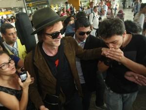 Fãs demonstraram carinho pelos músicos (Foto: Tarso Sarraf / O Liberal)