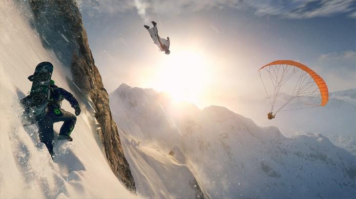 Steep traz um tipo de mundo aberto diferente no qual é preciso se divertir com os amigos para conquistá-lo (Foto: Divulgação/Ubisoft)