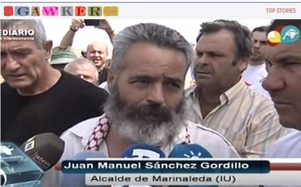 O prefeito Juan Manuel Sanchez Gordillo (Foto: Reprodução)