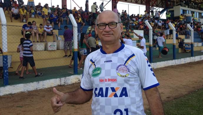 Presidente do Interporto, José de Sena Dias dos Santos, confiante no título (Foto: Fabrício Soveral/GloboEsporte.com)