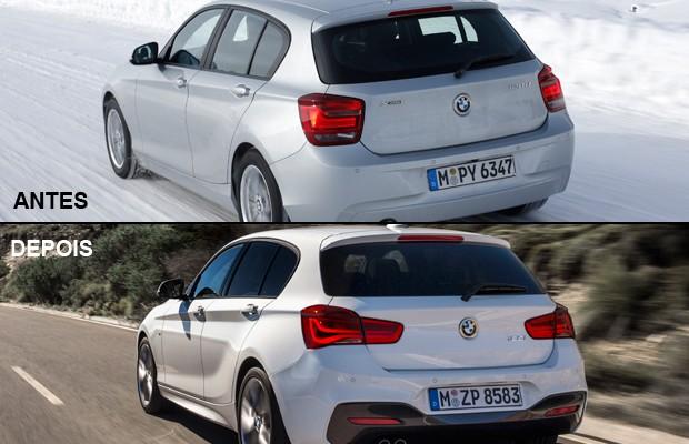 BMW Série 1 antes de depois (Foto: Divulgação)