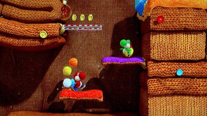 Dá para jogar cooperativamente em Yoshis Woolly World (Foto: Reprodução/Gamespot)