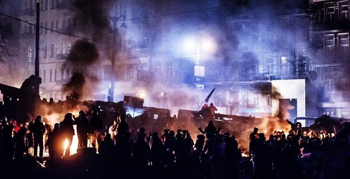 Protestos na Ucrânia (Foto: PHOTO/ VOLODYMYR SHUVAYEV )
