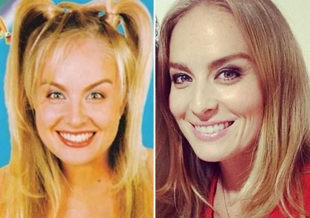Angélica mantinha as sobrancelhas bem mais finas na época em que apresentava programas infantis (Foto: Reprodução/Instagram)